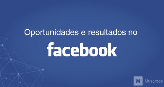 Oportunidades e resultados no Facebook