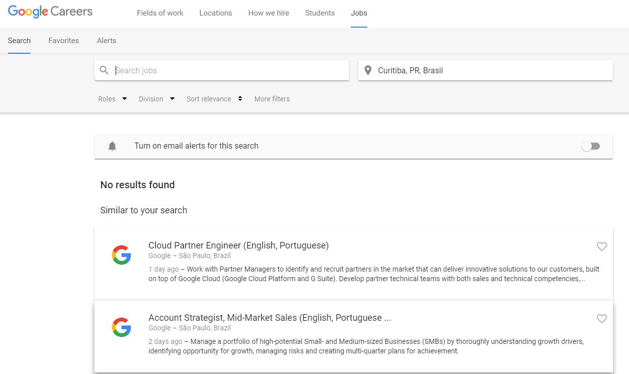 Google Jobs ajuda usuários a arranjarem empregos